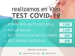 Test PCR y Antígenos para viajes
